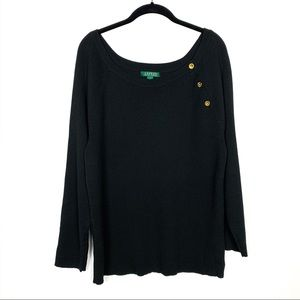 LAUREN Ralph Lauren Plus Size 3X Black Sweater